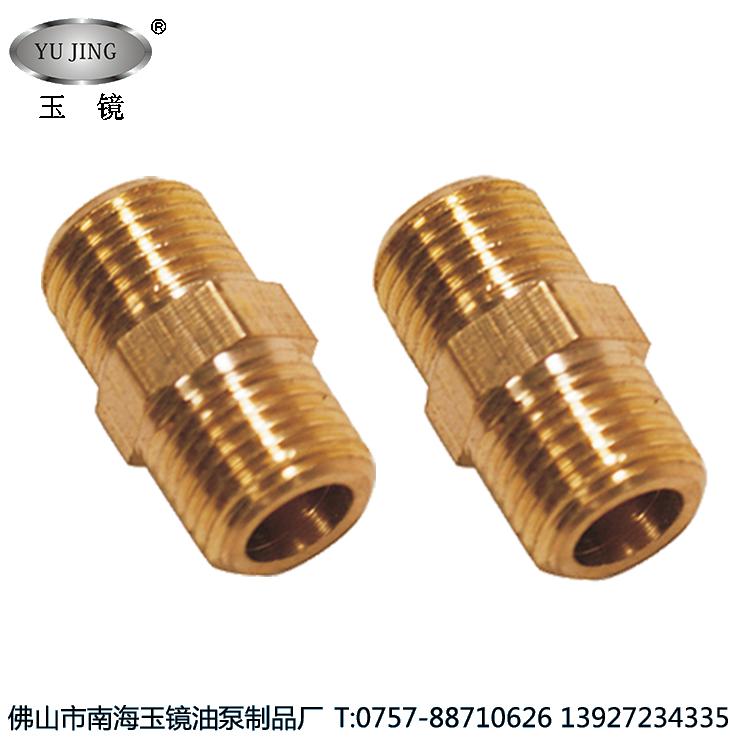 T外接双通油管接头 双外丝补芯 润滑系统转换配件